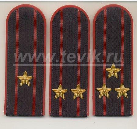 Погоны Сотрудников, имеющие специальные звания полиции и внутренней службы с вышитыми звездами (ПЛАСТИК)