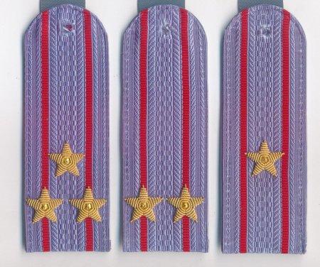 Погоны на повседневную рубашку полиции и внутренней службы с вышитыми звездами (ПЛАСТИК)