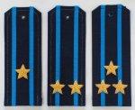 Погоны ВВС на офисную форму с пришивными просветами ткань Рип-Стоп (На Пластике), с вышитыми звездам...