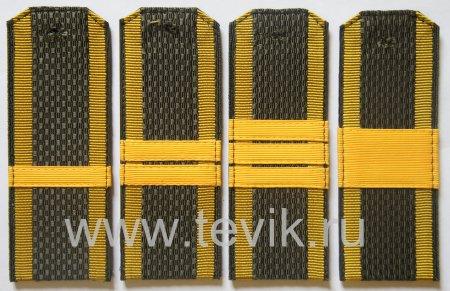 Погоны ВС сержантский состав на куртку съемные КУРСАНТ (пластик)