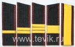 Погоны ВМФ Сержантский состав скошенные с красным кантом на ленте (пластик)