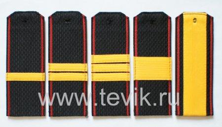 Погоны ВМФ Сержантский состав  с красным кантом на ленте  (пластик)