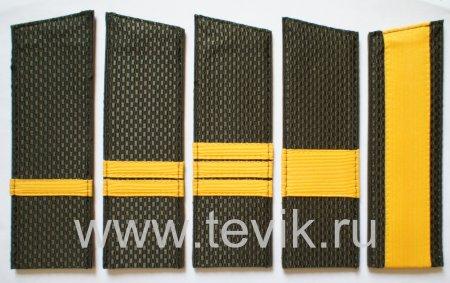 Погоны ВС сержантский состав скошенные  (пластик)