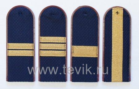 Погоны ФСИН (Федеральная служба исполнения наказаний) сержантский состав  на куртку ( пластик)