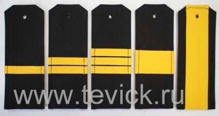 Погоны ВМФ на офисную форму сержантский состав ткань Рип-Стоп (На Пластике)
