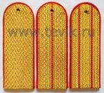 Погоны парадные золото на китель (картон)