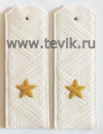 Погоны Генерал-Майор белые  ВС, ВВС, ФСБ.