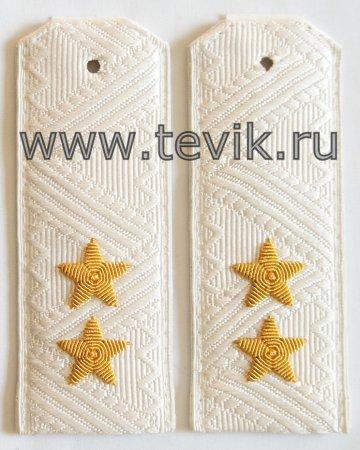 Погоны Генерал-Лейтенант белые ВС, ВВС, ФСБ