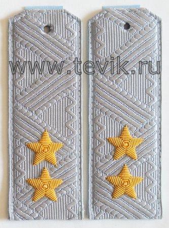 Погоны Генерал-Лейтенант на рубашку ФСБ/ФСО