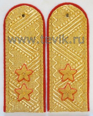 Погоны Генерал-Лейтенант Полиции парадные (на парадный китель)