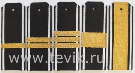 Погоны ВМФ Рип-стоп cержантский состав с белым кантом (пластик)