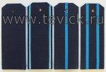 Погоны ВКС на офисную форму с пришивными просветами  ткань Рип-Стоп (На Пластике)