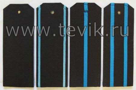 Погоны ВМФ на офисную форму с пришивными просветами ткань Рип-Стоп (На Пластике)