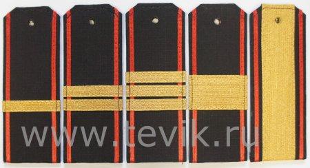Погоны ВМФ Рип-стоп cержантский состав с красным кантом (пластик)