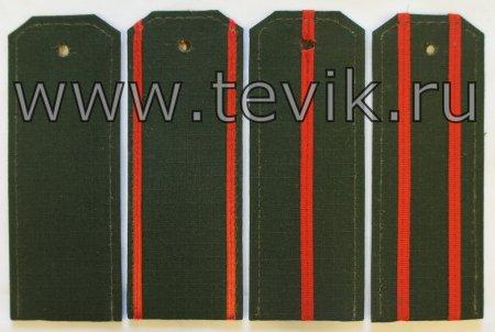 Погоны ВС на офисную форму с пришивными просветами  ткань Рип-Стоп (На Пластике)