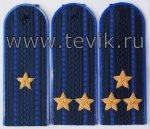 Погоны на куртку китель с вышитыми звездами (пластик, картон)
