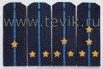 Погоны ВКС на куртку (оф/форма) на пластике вышитые звезды.