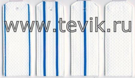 Погоны ВКС на белую рубашку (на пластике) картон под заказ