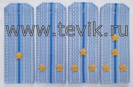 Погоны ВКС на повседневную рубашку с вышитыми звездами ( на пластике) картон под заказ