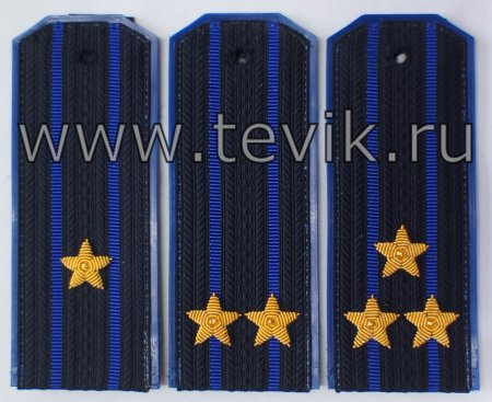 Погоны ФСБ / ФСО на куртку китель с вышитыми звездами пластик картон