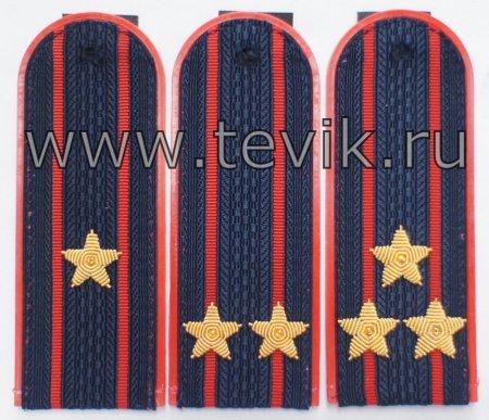 Погоны МВД на куртку китель с вышитыми звездами пластик , картон.