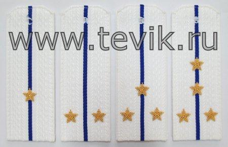 Погоны ФСБ / ФСО на белую рубашку с вышитыми звездами