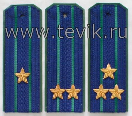 Погоны Прокуратуры (пластик, картон) с вышитими звездами