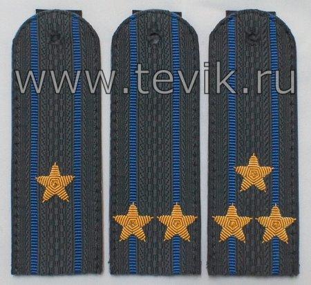 Погоны ФССП для органов принудительного исполнения  без канта (пластик  картон) с вышитыми звездами